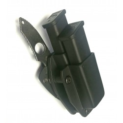 Delta Double Mag Glock Mag Carrier with Bodyguard Knife