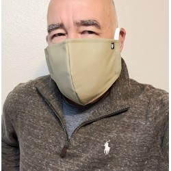 "Tactical Distancing ""American Medical"" Black,  Re-usable Mask with complete Spunbond Polypropylene Filter Lining Medium - Large"