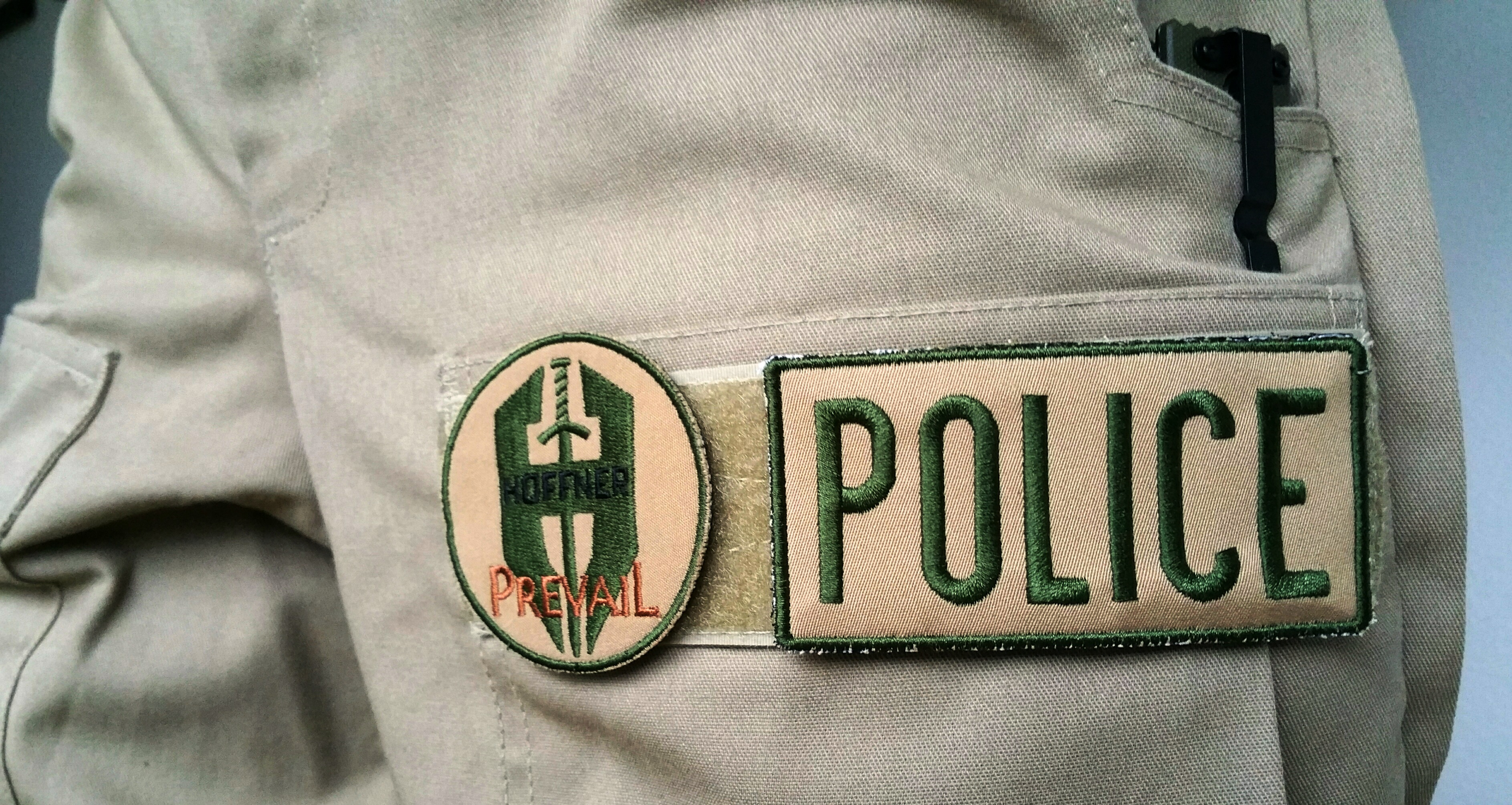 Police Khaki Patch on ATA
