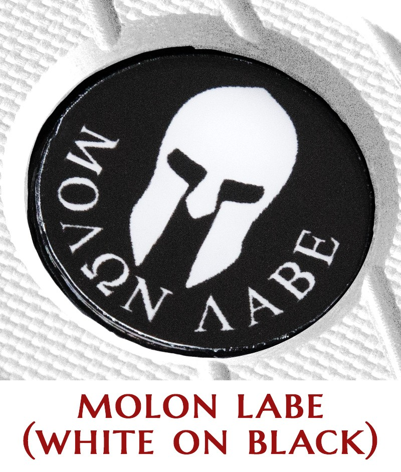Molon Labe (white on black)