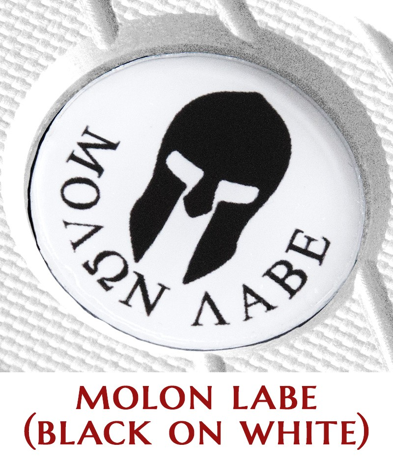 Molon Labe (black on white)