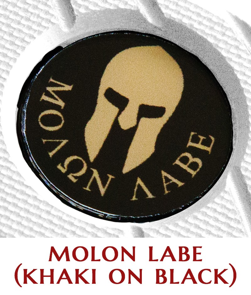 Molon Labe (khaki on black)