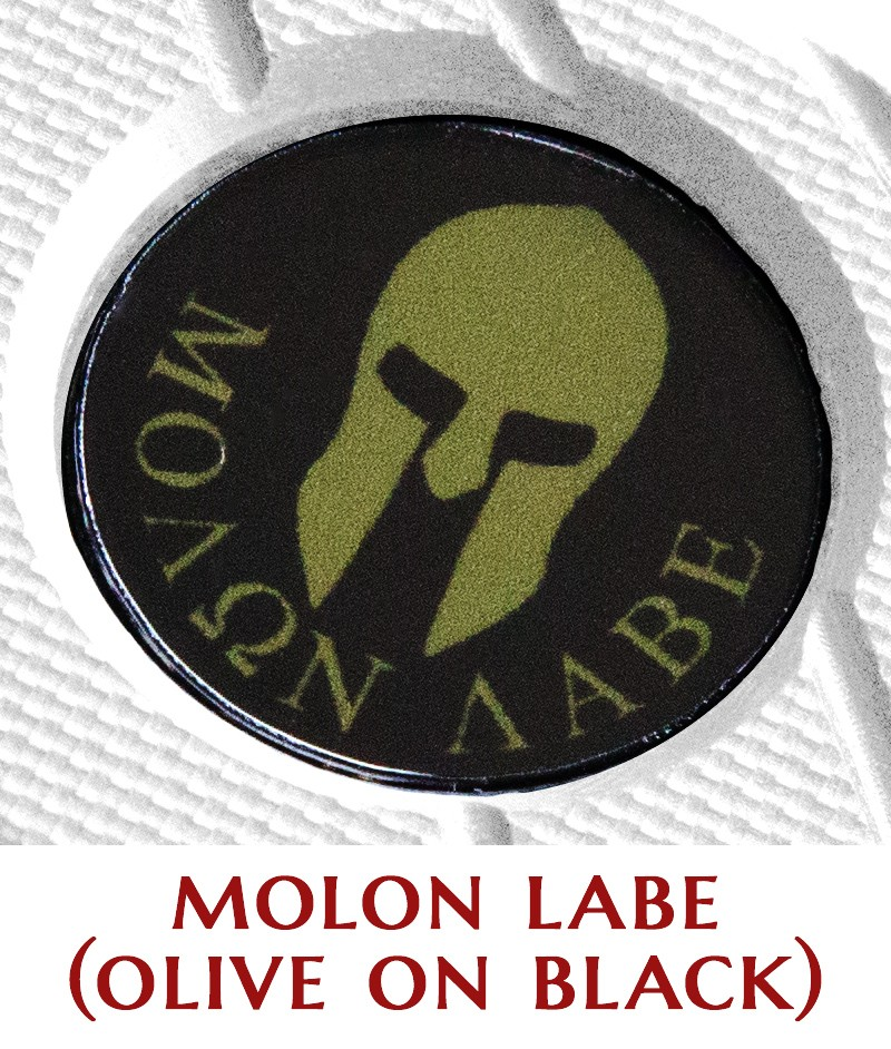 Molon Labe (olive on black)