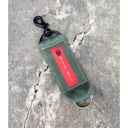 """Hoffner Heavy Duty """"Never Quit"""" Key Chain/Mini Tow Strap with Grenade Ring"""